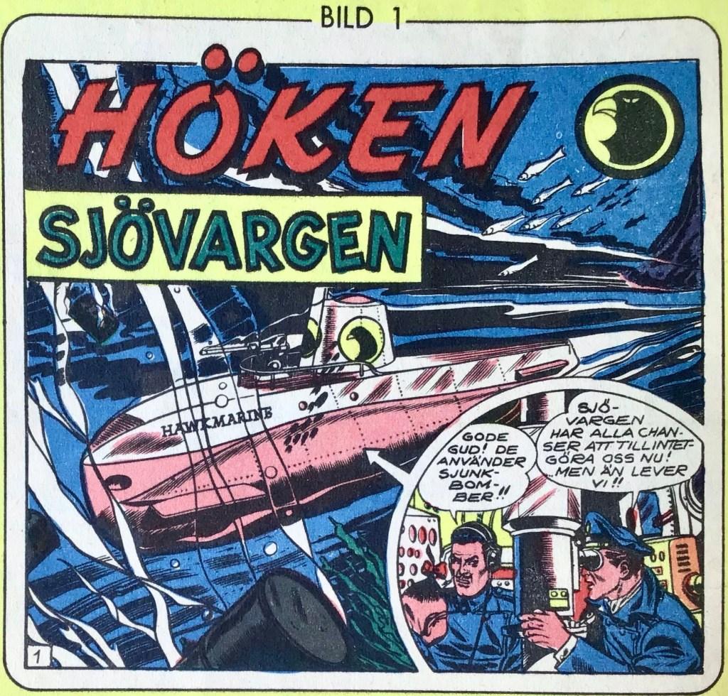 Första bilden ur samlarserien i Höken, ur nr 33, 1957. ©Formatic/EuropaPress
