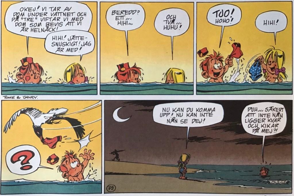 Ett utdrag ur en sida med Den unge Spirou från nya Comics (1993). ©PIB/Dupuis