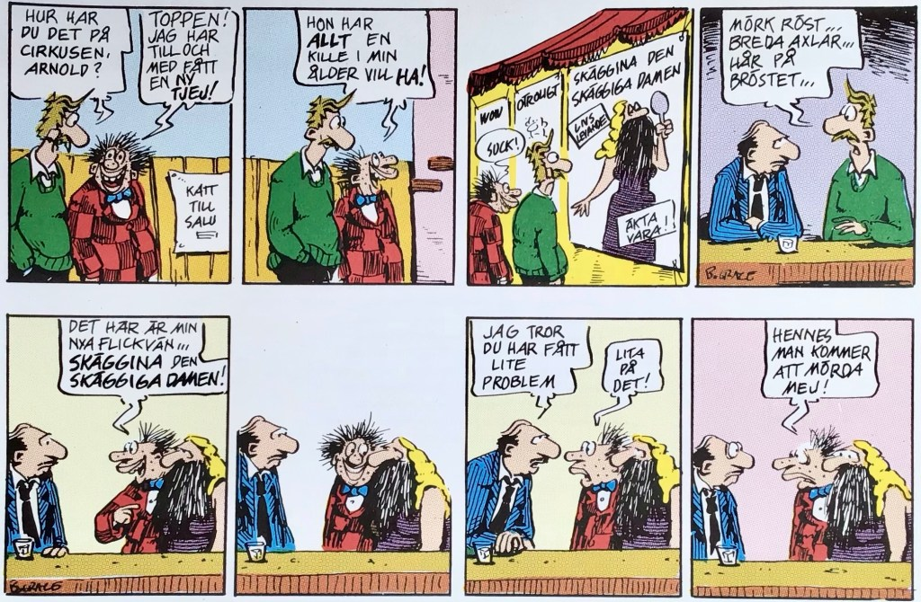 Ett par dagsstrippar med Ernies, ur Comics - serierna 100 år. ©Bulls/KFS