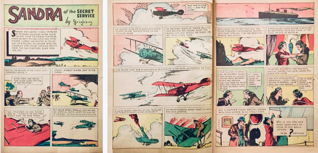 Avslutningen av The Resbian Affair ur More Fun Comics #18 (1937). ©National Allied