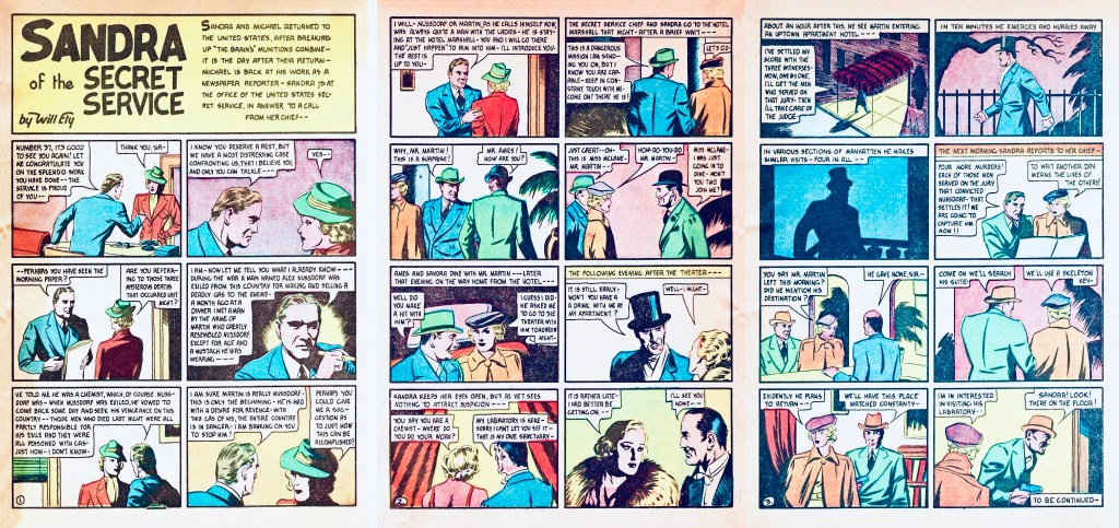 Inledningen av episoden The Gas Murders ur More Fun Comics #26 (1937). ©National Allied