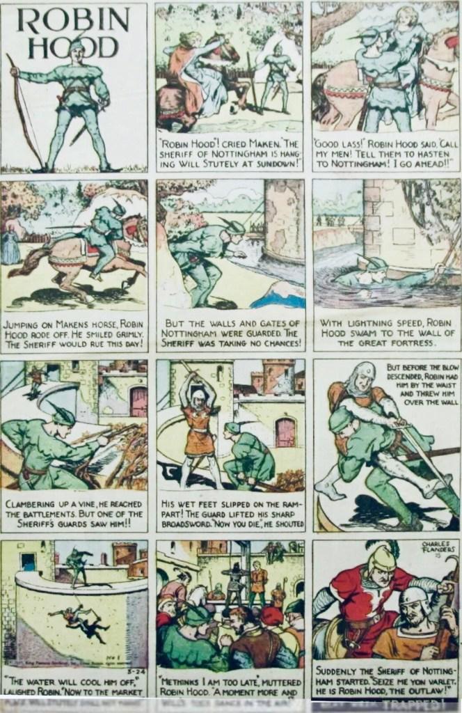 En söndagssida med alibin Hood från 24 mars 1935. ©KFS