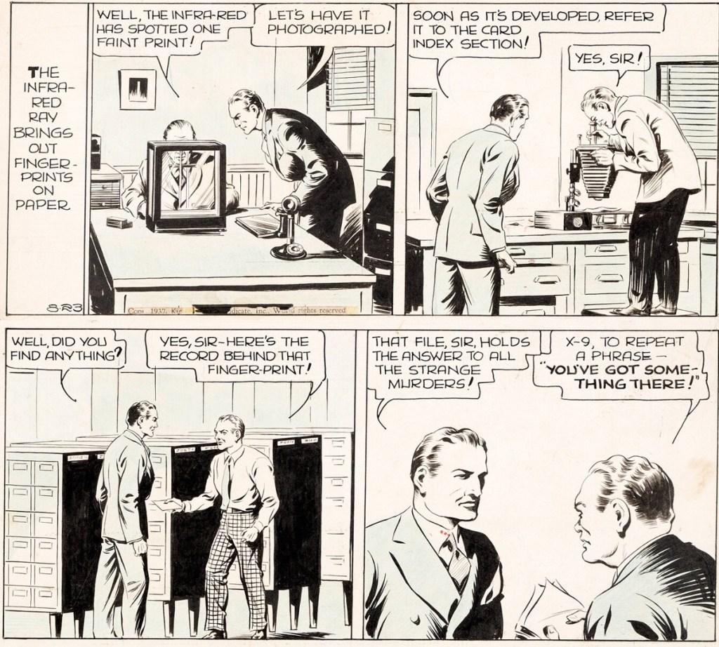 Original till en dagsstripp från 23 augusti 1937. ©KFS