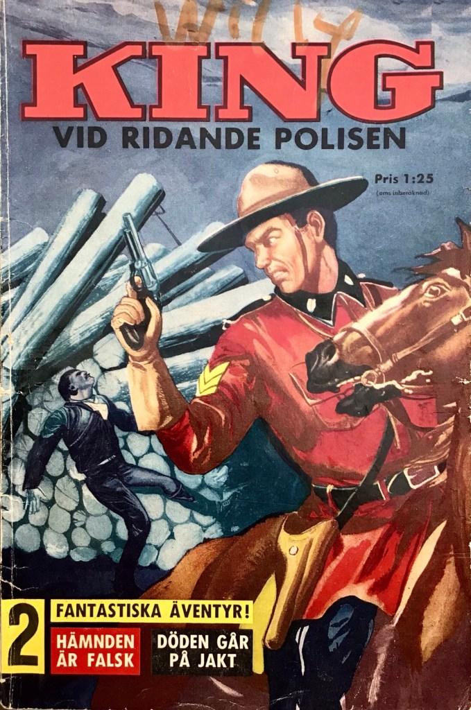Omslag till King vid ridande polisen (1960). ©Åhlén & Åkerlund