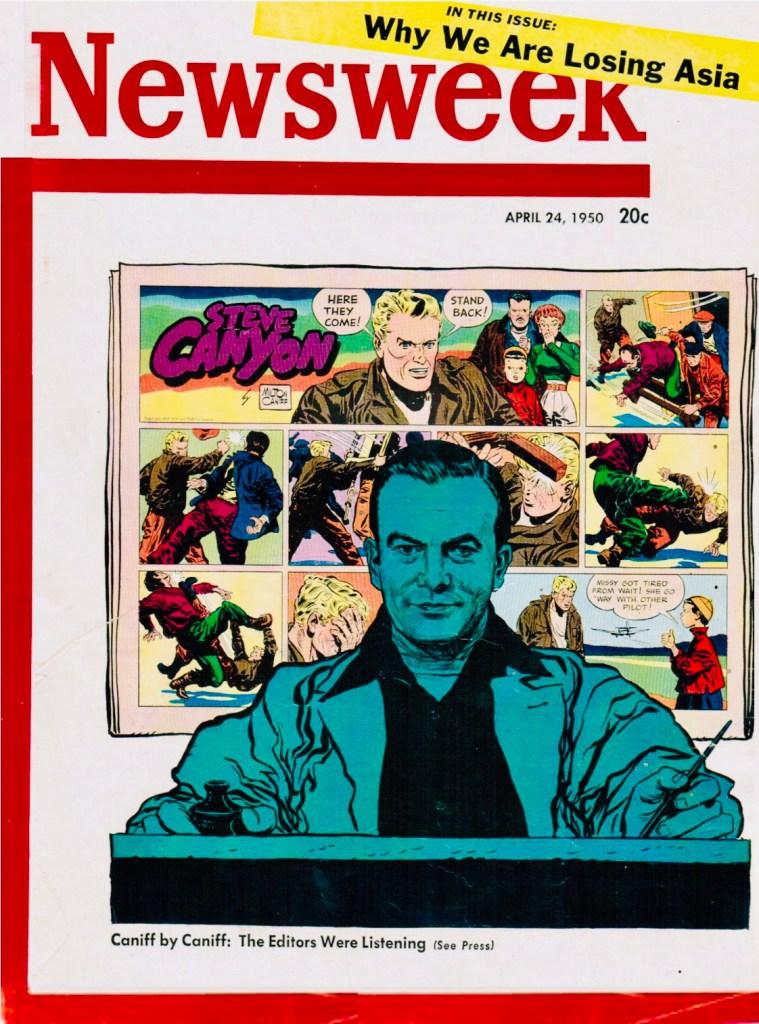 Milton Caniff tecknade omslaget till Newsweek som utkom 24 april 1950. ©Newsweek