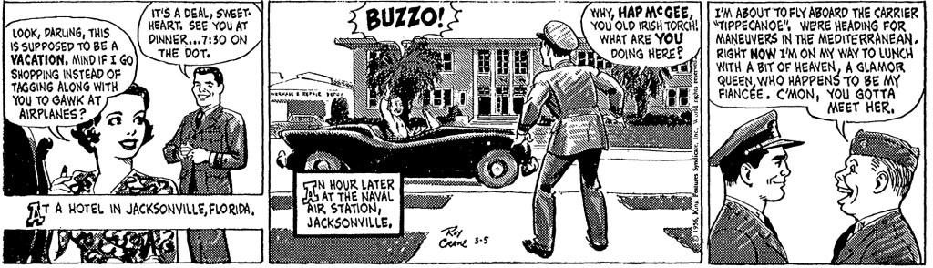 Motsvarande dagsstripp i original, från 5 mars 1956. ©KFS