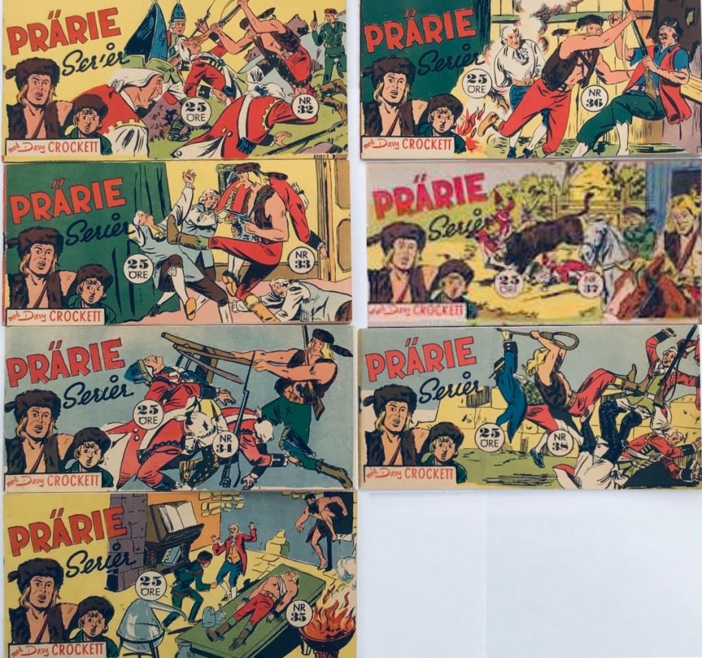 Davy Crockett-äventyr 1958 i Prärieserier nr 32-38, 1958. ©Centerförlaget