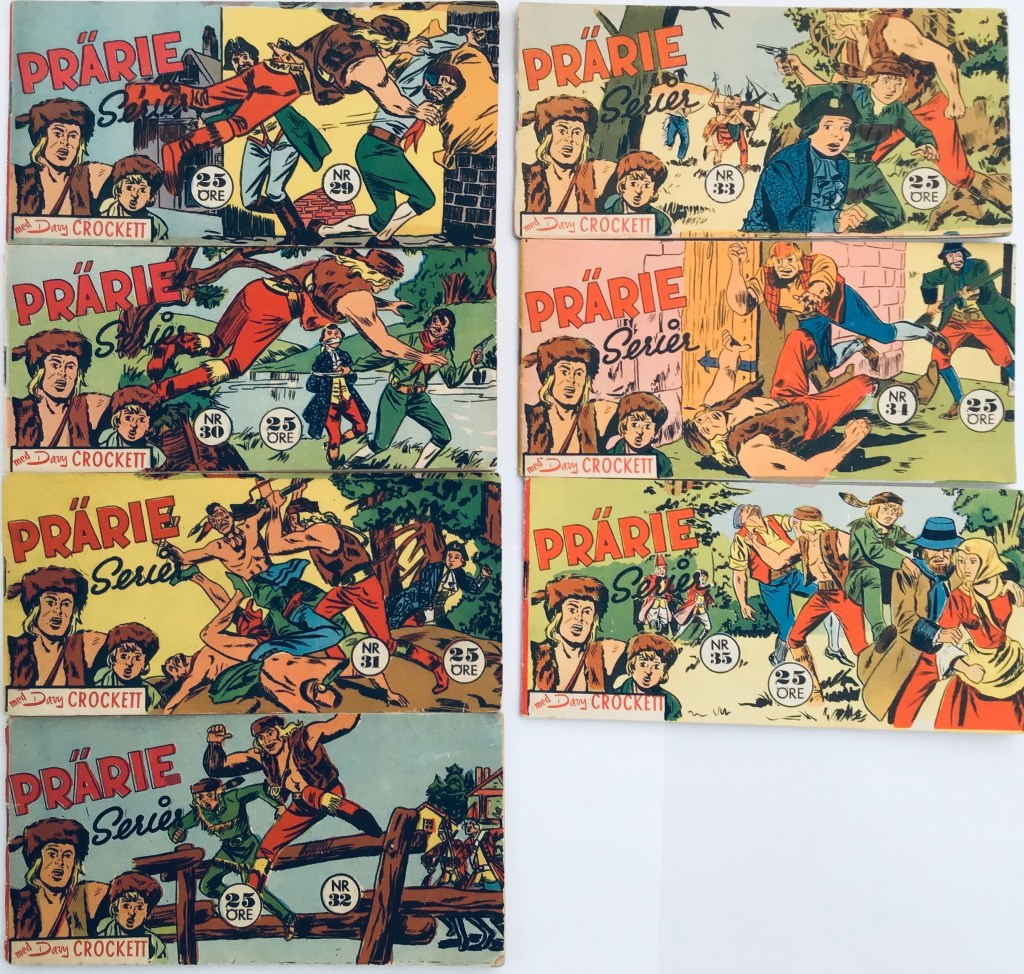 Davy Crockett-äventyr 1959 i Prärieserier nr 29-35, 1959. ©Centerförlaget