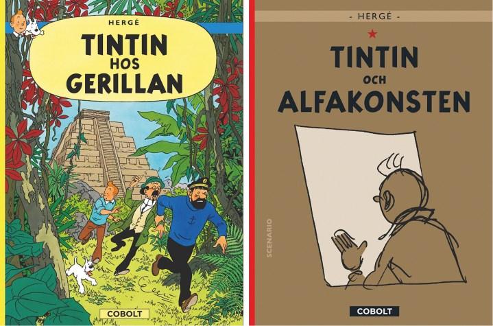 Två album med Tintin utgivna 2021. ©Cobolt
