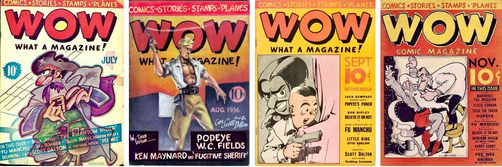 Det utkom fyra nummer av Wow, What a Magazine! (1936). ©Henle