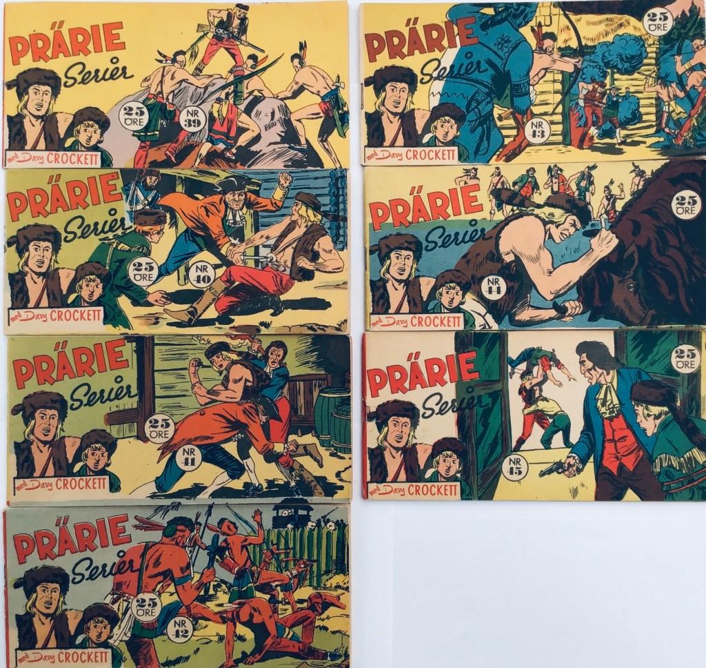 Davy Crockett-äventyr 1958 i Prärieserier nr 39-45, 1958. ©Centerförlaget