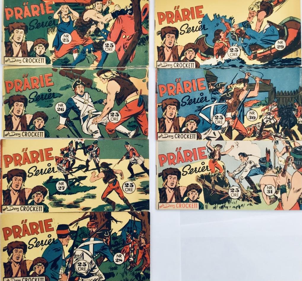 Davy Crockett-äventyr 1958 I Prärieserier nr 25-31, 1958. ©Centerförlaget