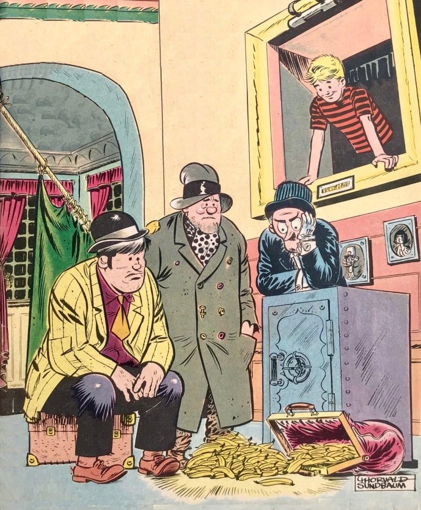 Osynliga klubben, tecknad av Torvald Sundbaum. ©Å&Å
