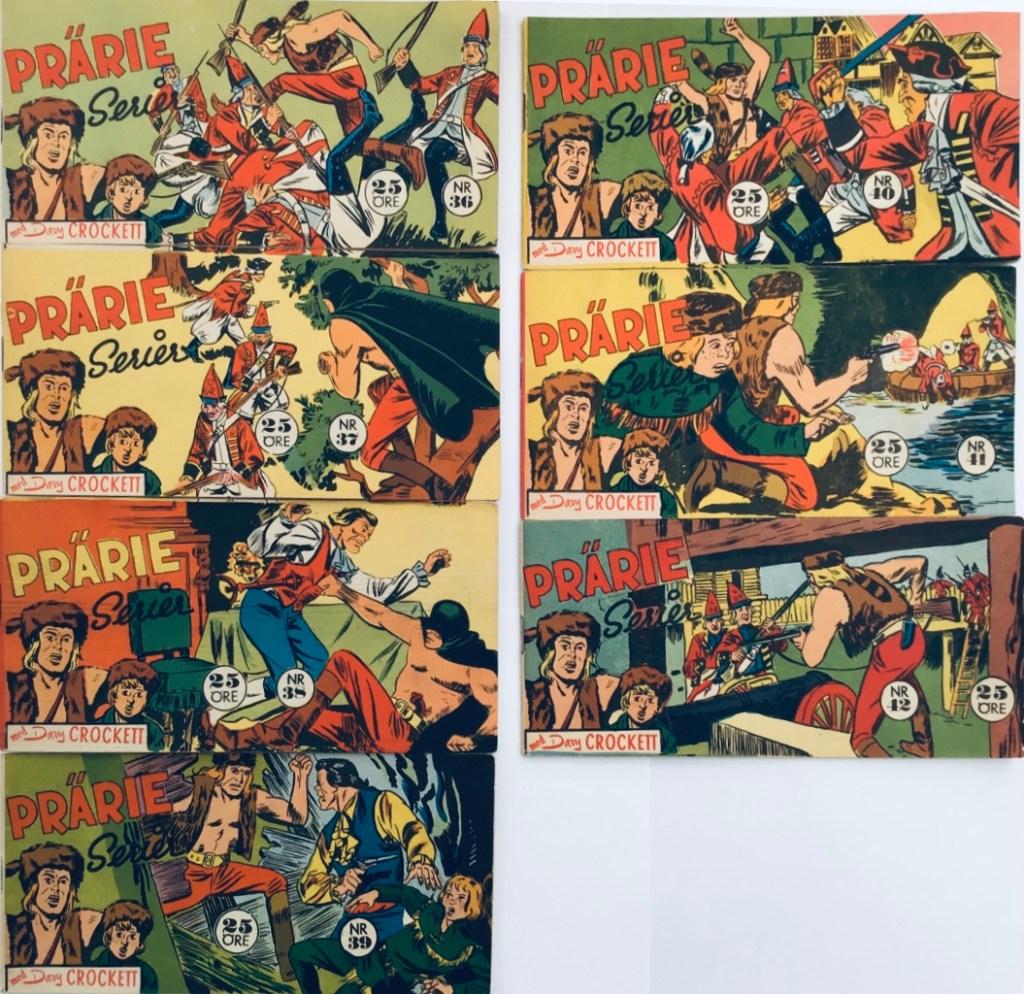 Davy Crockett-äventyr 1959 i Prärieserier nr 36-42, 1959. ©Centerförlaget