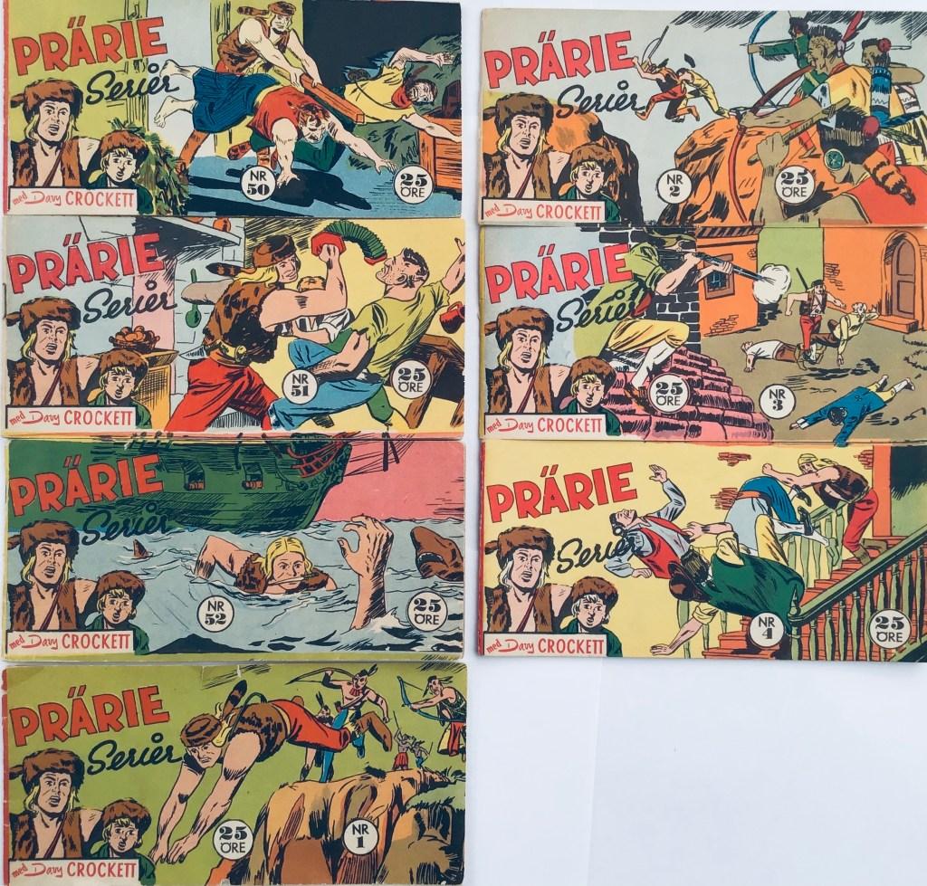 Davy Crockett-äventyr 1959 i Prärieserier nr 50, 1959 - nr 4, 1960.  ©Centerförlaget