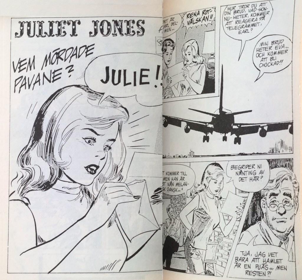 Inledande uppslag med Juliet Jones ur Comix pocket nr 7. ©Bulls