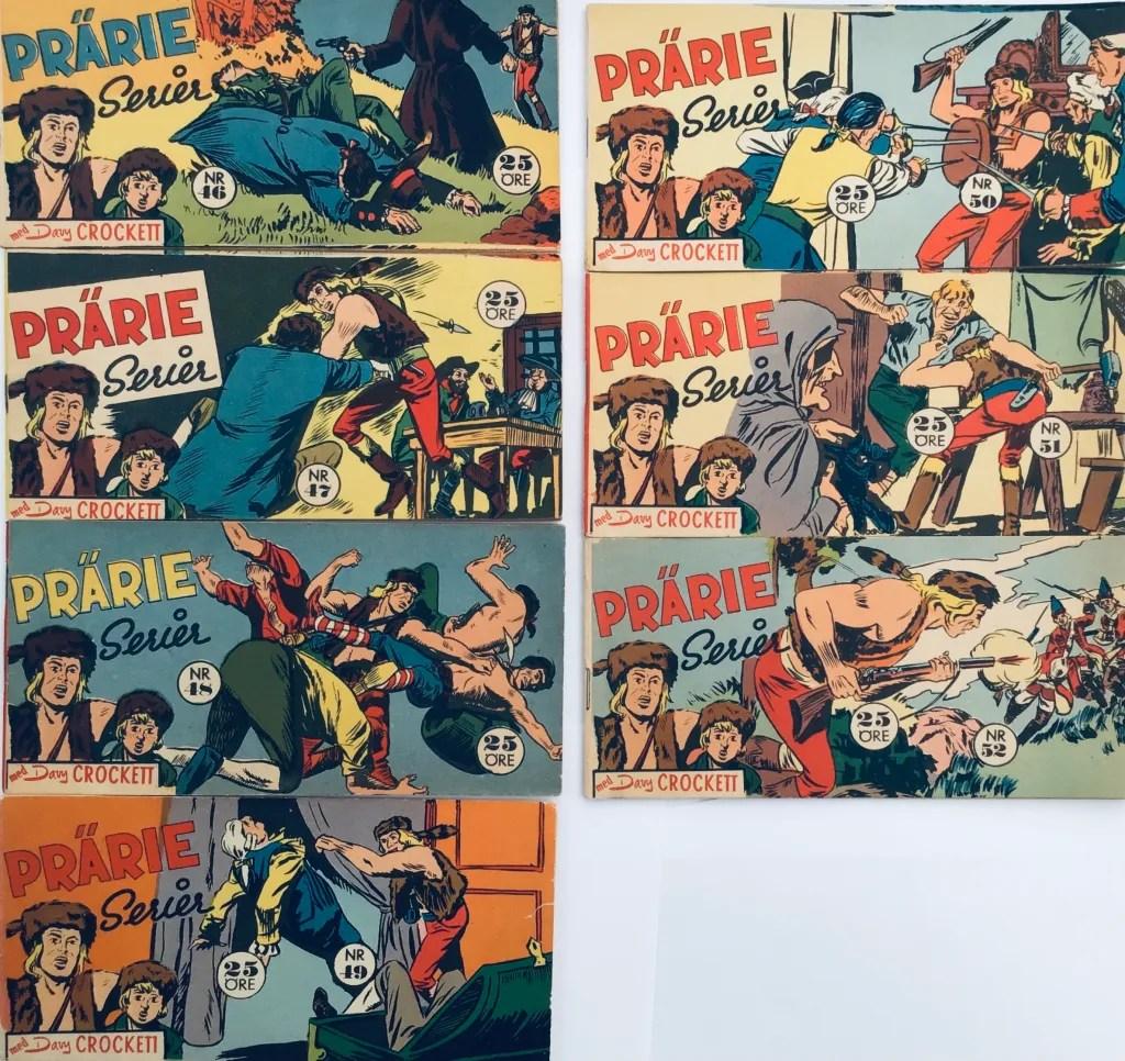 Davy Crockett-äventyr 1958 i Prärieserier nr 46-52, 1958. ©Centerförlaget