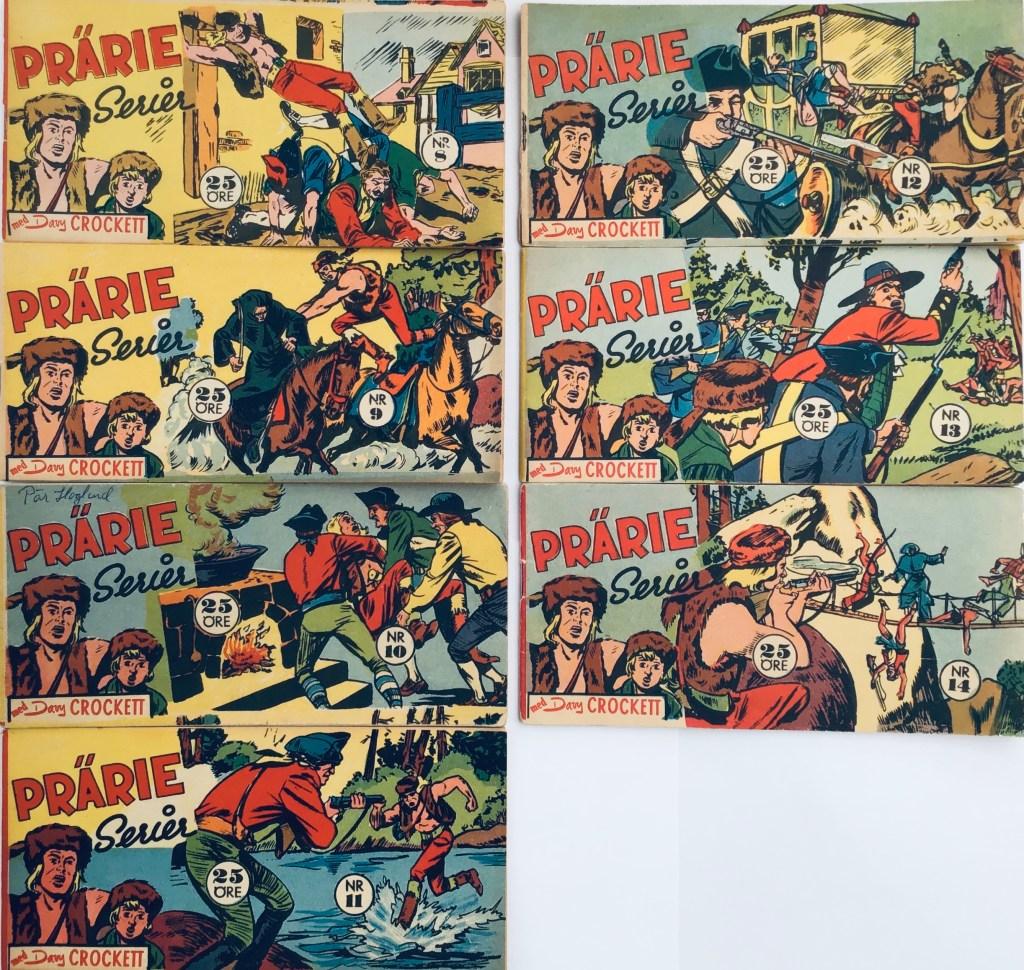 Davy Crockett-äventyr 1959 i Prärieserier nr 8-14, 1959. ©Centerförlaget
