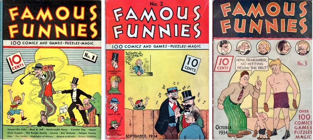Omslag till Famous Funnies #1-3 (1934). ©Eastern Color
