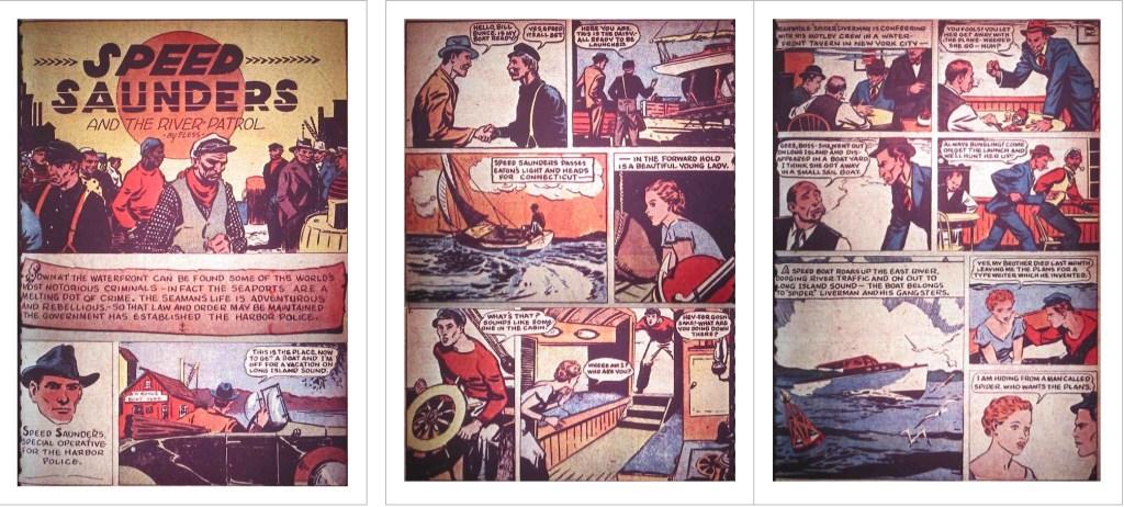 Inledande sidor till den första serien ur Detective Comics #3 (1937). ©National
