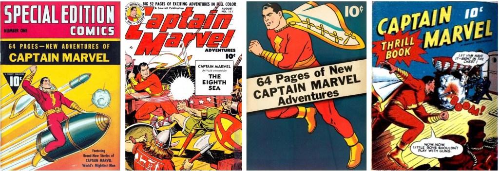 Captain Marvel började snart synas i fler publikationer utanför Whiz Comics. ©Fawcett