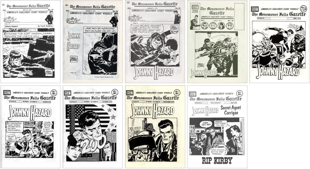 Johnny Hazard fanns med på omslaget till MFG #19, #36, #55, #78, #129, #168, #200, #204 och #222. ©Street Enterprises