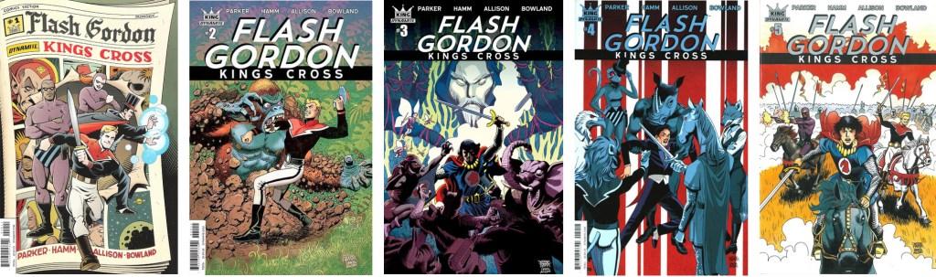 En omslagsversion till Flash Gordon: Kings Cross (2016-17). ©Dynamite