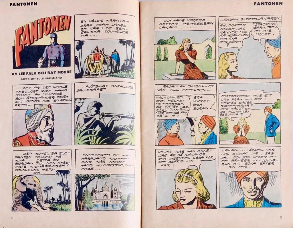 Innehållet i Fantomen-tidningen var omredigerade strippar från dagspresserien. ©Bulls