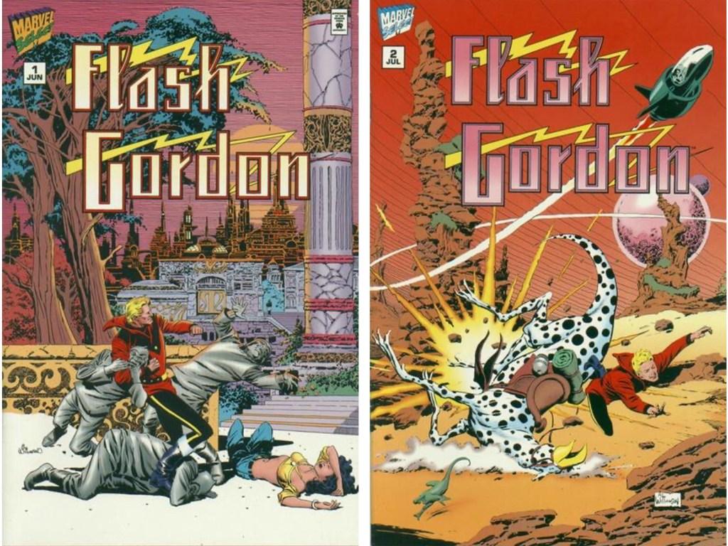 Omslag till Flash Gordon #1 och #2 (1995). ©Marvel