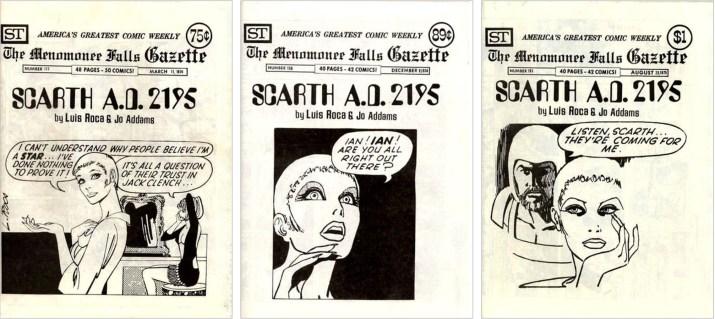 Scarth fanns med på omslaget till MFG #117, #156 och #193. ©Street Enterprises
