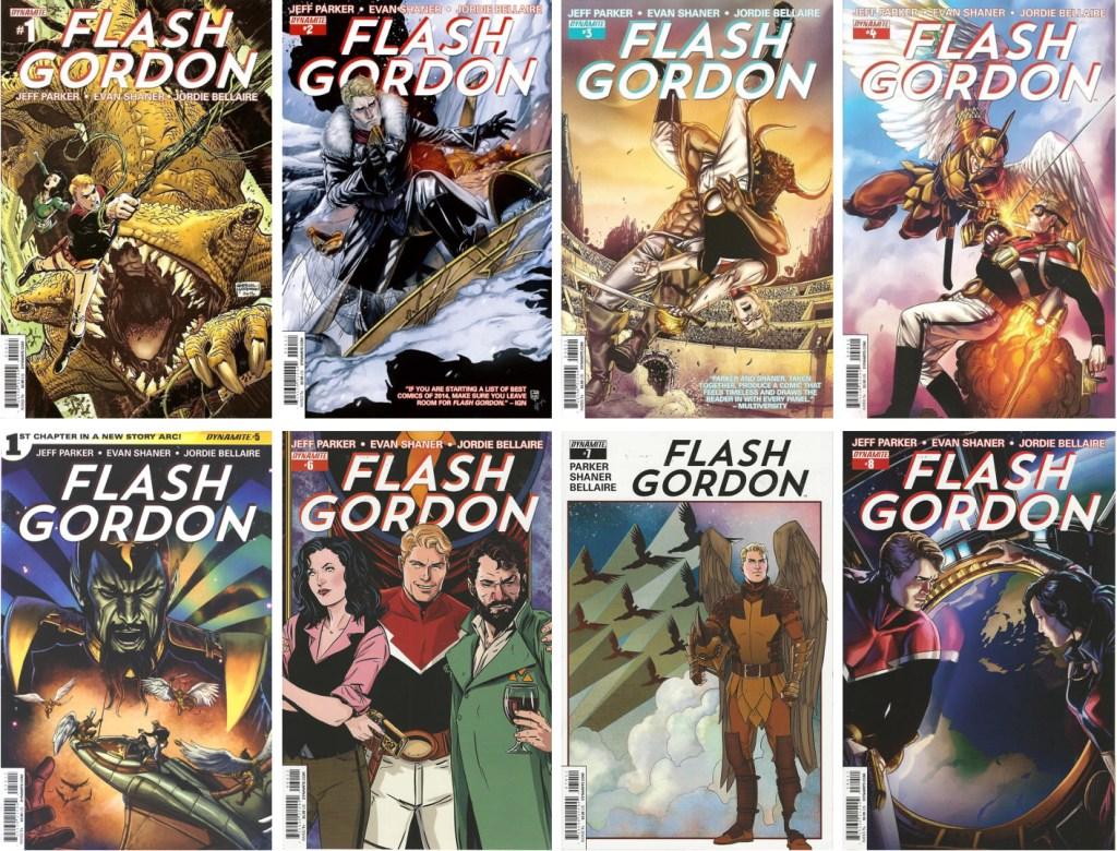 En omslagsversion av Gabriel Hardman (#1) och Marc Laming till Flash Gordon (2014-15). ©Dynamite