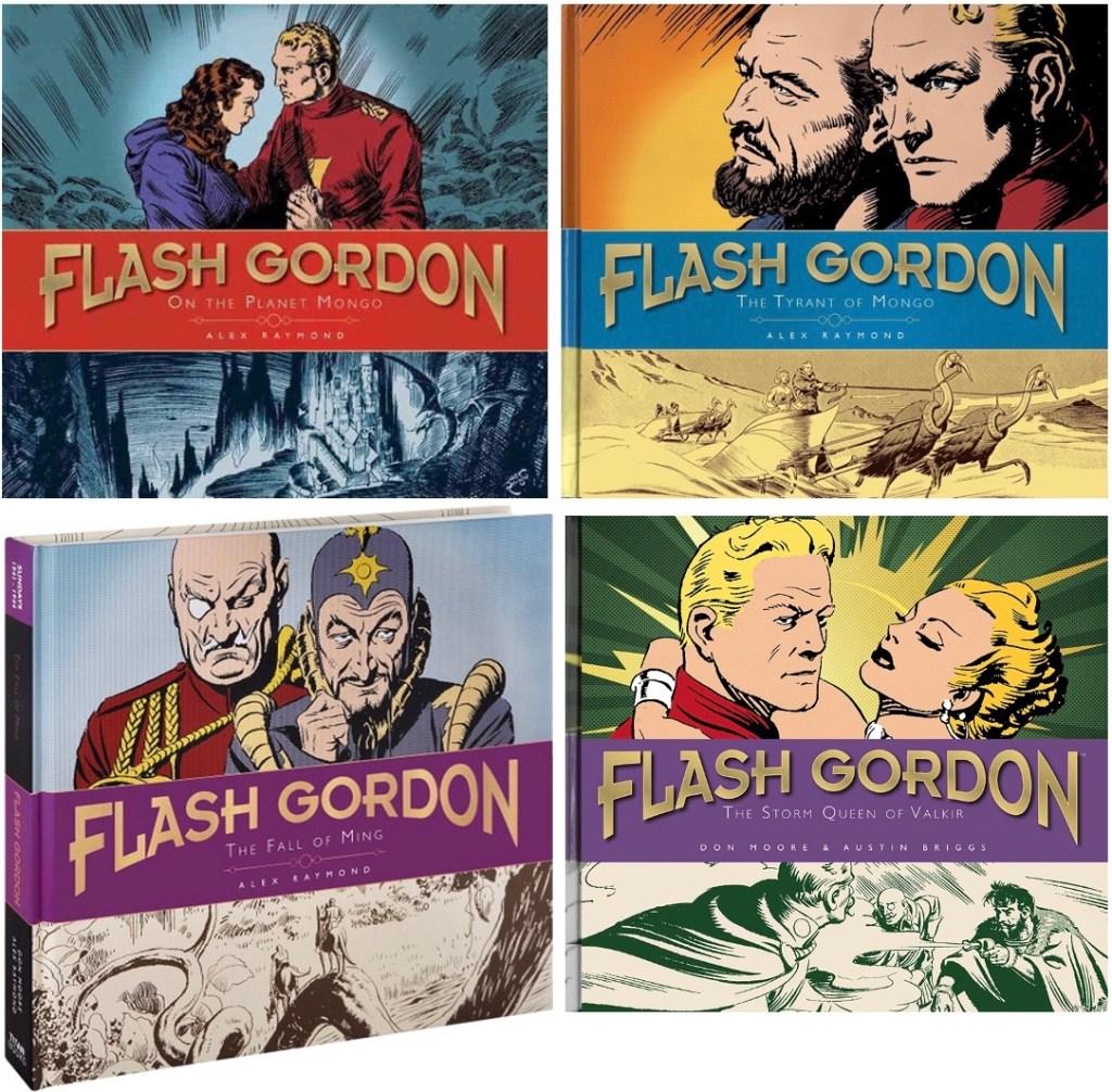 Omslag till The Complete Flash Gordon Library, volume 1-4 (2012-15). ©Titan