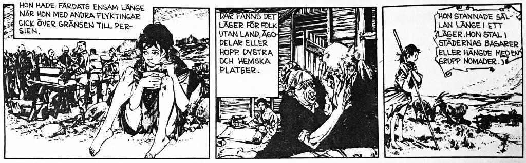 Tredje strippen ur resumén Början på historien, ur Comics nr 5. ©Bulls