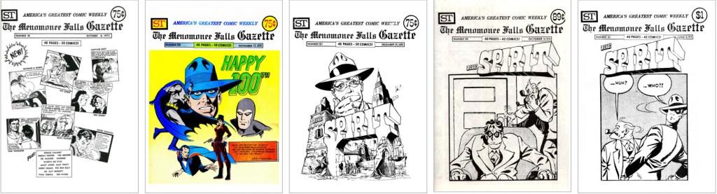 The Spirit fick plats på omslaget i MFG #95, #100, #107, #148 och #183. ©Street Enterprises