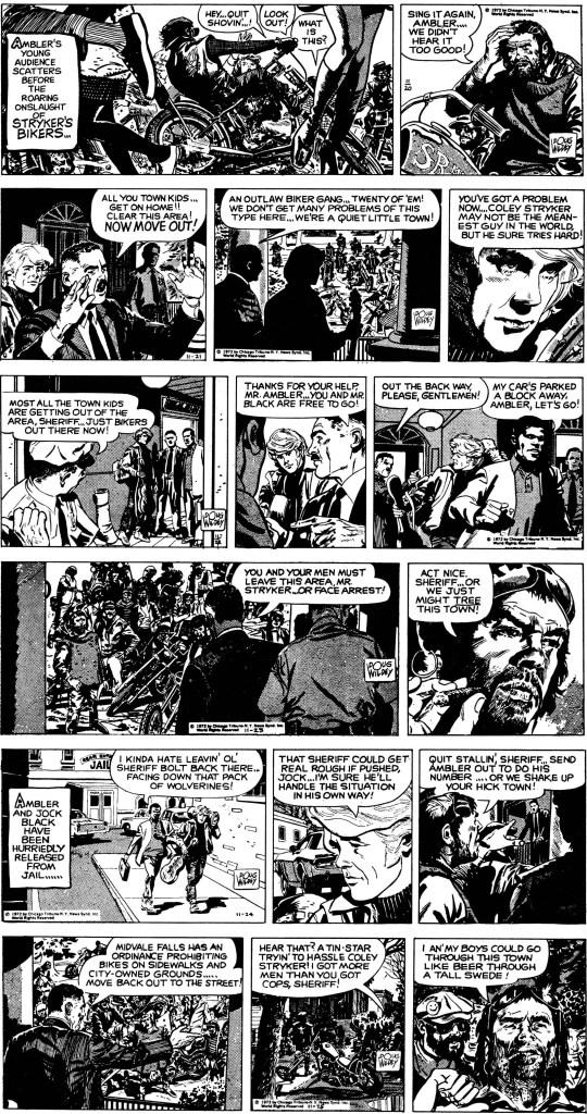 Dagsstrippar den första veckan ur den första episoden, från 16-21 oktober 1972. ©CTNYNS