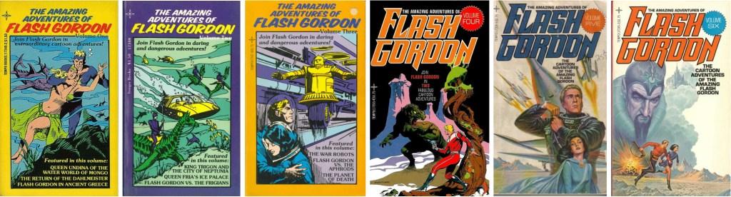 Omslag till pocketutgåvor med Flash Gordon. ©Tempo