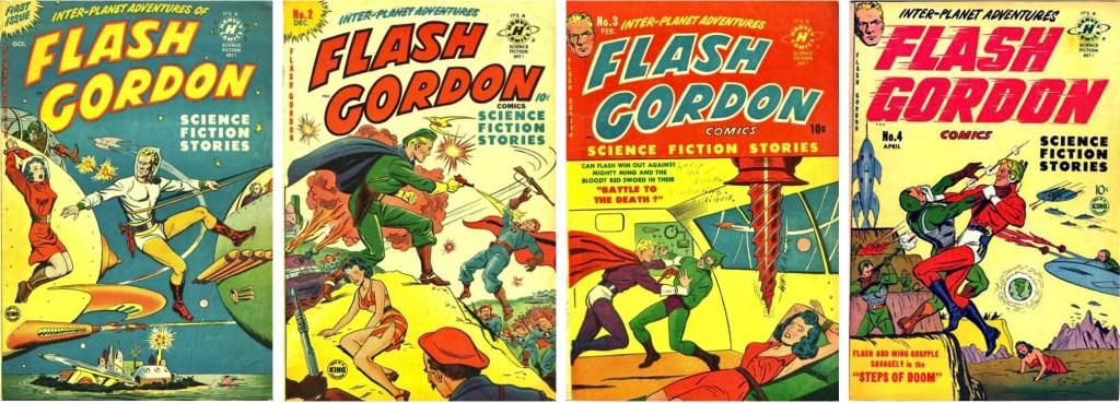 Omslag till Flash Gordon #1-4 (1950-51). ©Harvey
