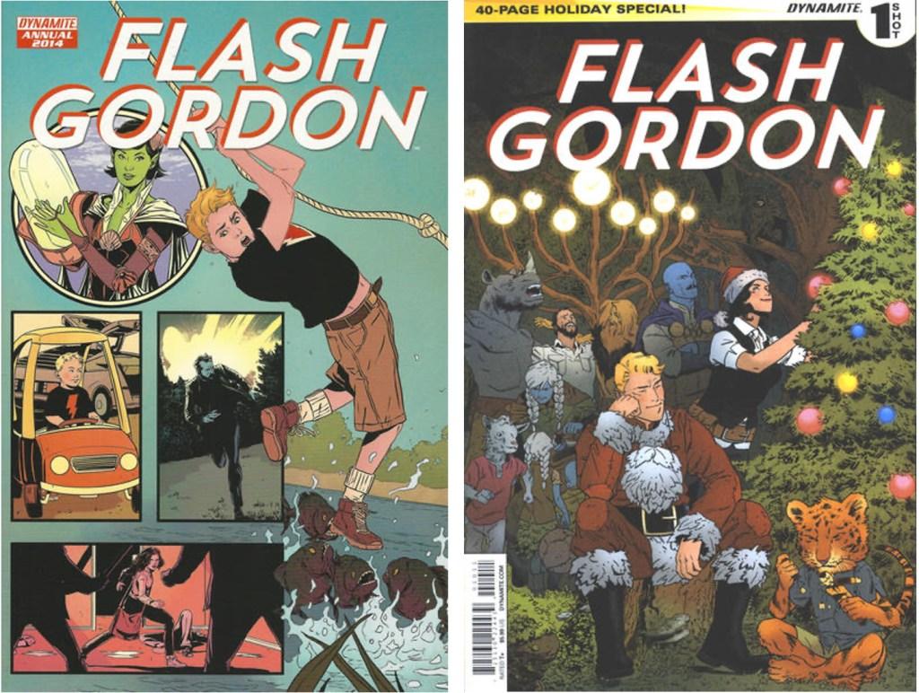 Omslag till Flash Gordon Annual och Flash Gordon Holiday Special (2014). ©Dynamite