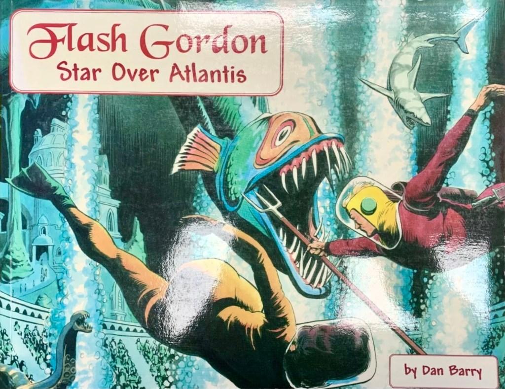 Omslag till Flash Gordon: Star over Atlantis (2007). ©Manuscript
