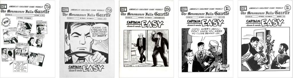 Captain Easy fanns också med på omslaget till MFG #95, #116, #153, #188 och #220. ©Street Enterprises