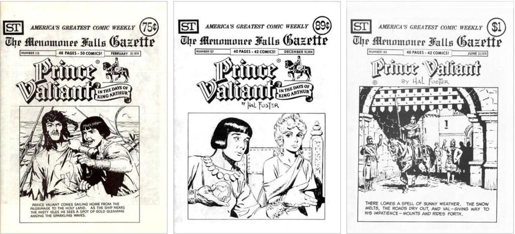 Prince Valiant fanns med på omslaget till MFG #115, #156 och #184. ©Street Enterprises