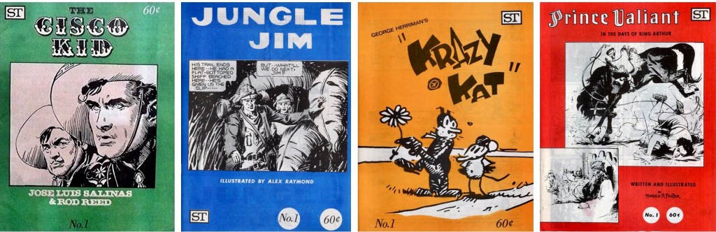Omslag till The Cisco Kid, Jungle Jim, Krazy Kat, Prince Valiant. ©Street Enterprises
