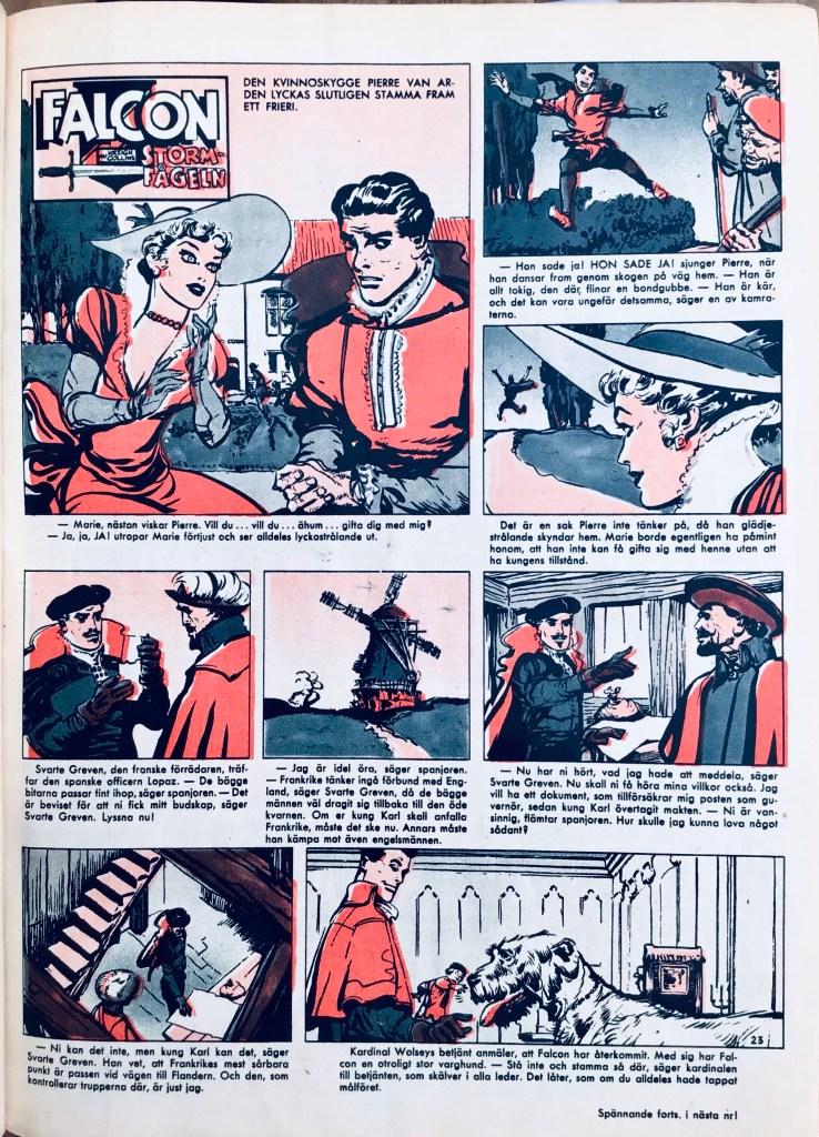 Falcon Stormfågeln ur Allas Veckotidning nr 23, 1958. ©PIB