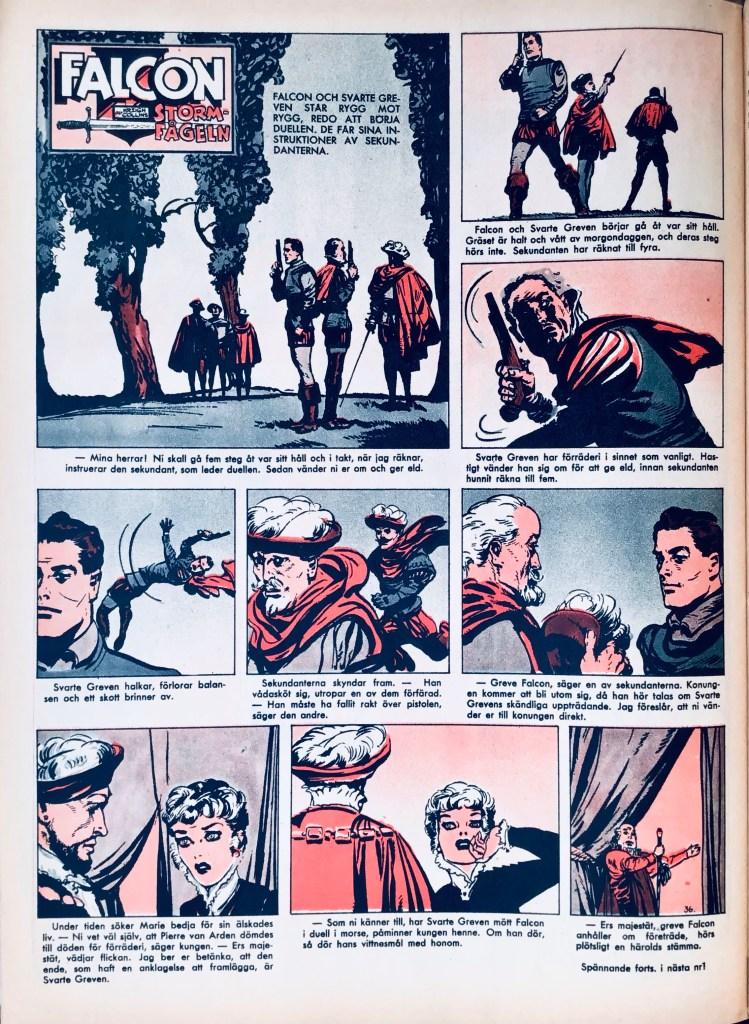 Falcon Stormfågeln ur Allas Veckotidning nr 36, 1958. ©PIB