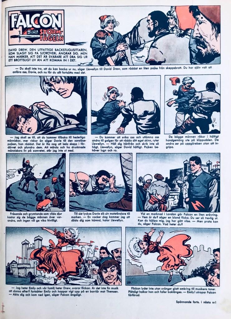 Serien ur Allas Veckotidning nr 39, 1958. ©PIB