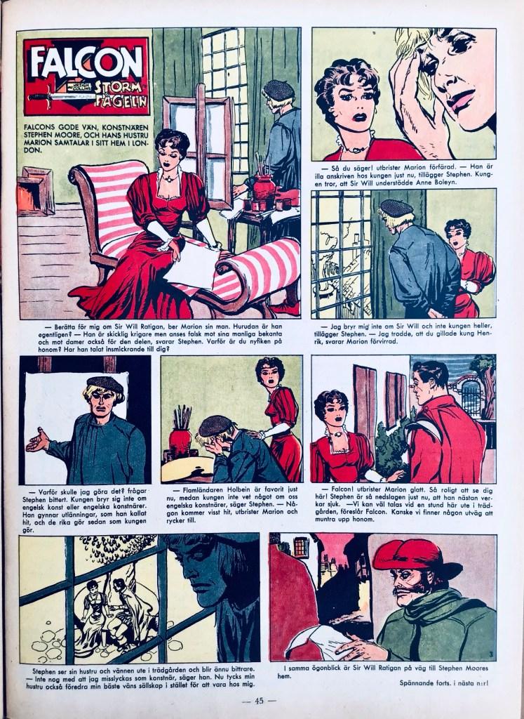 Serien i färg ur Allas Veckotidning nr 3, 1960. ©PIB