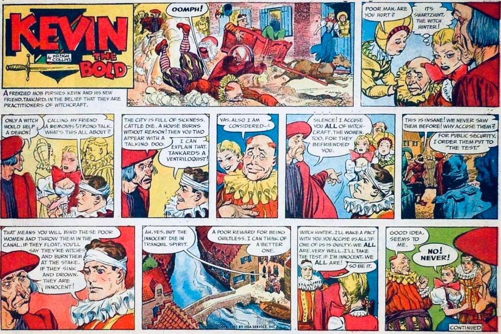 Söndagsserien i original från 9 september 1951. ©NEA