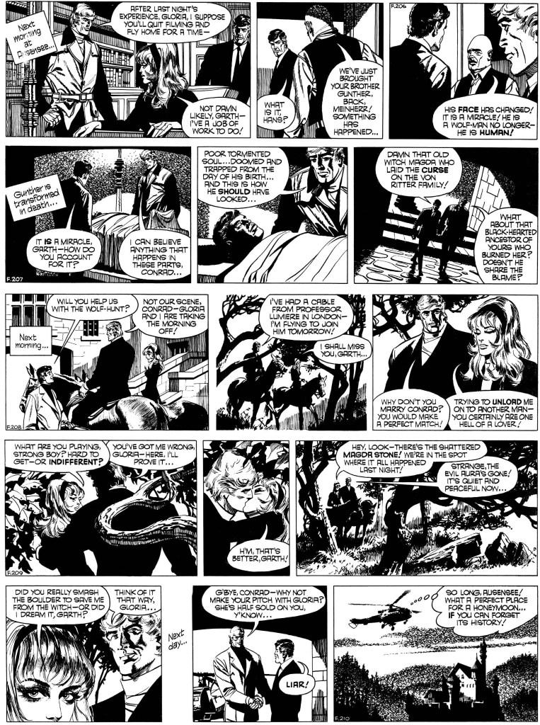 Avslutningen i original, från 1-2 och 4-6 september 1972. ©Daily Mirror