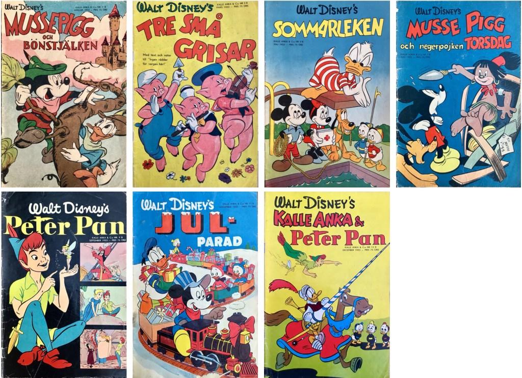 Det utkom sju B-nummer av Kalle Anka & C:o 1953. ©Richters/Disney