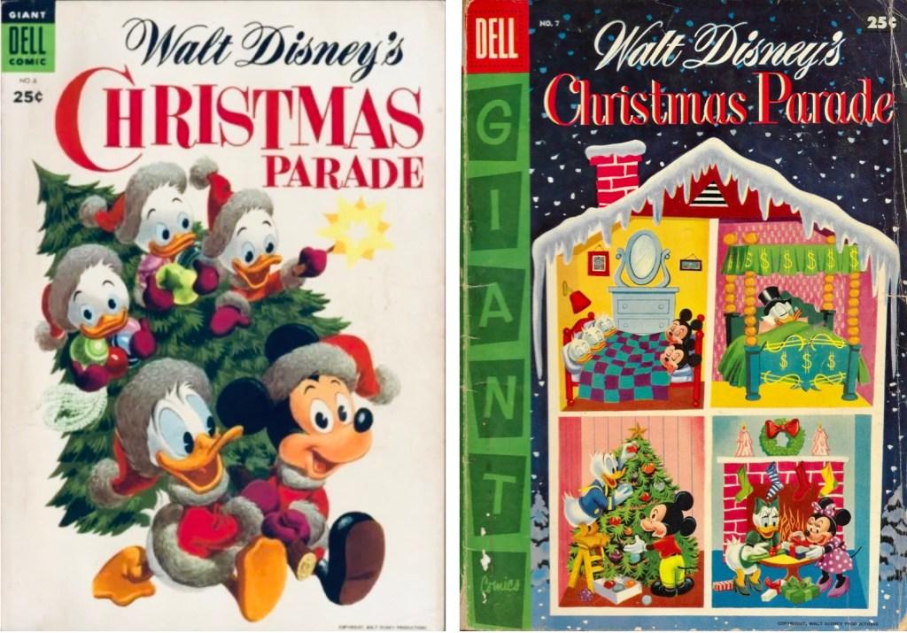 Omslag till Christmas Parade #6 (1954) och #7 (1955). ©Dell/Disney